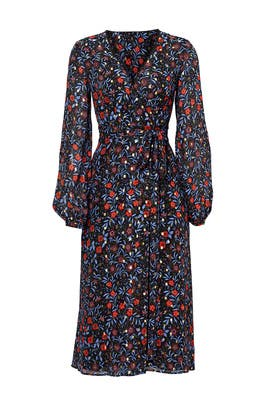 Folk Floral Wrap Dress by Cynthia Rowley