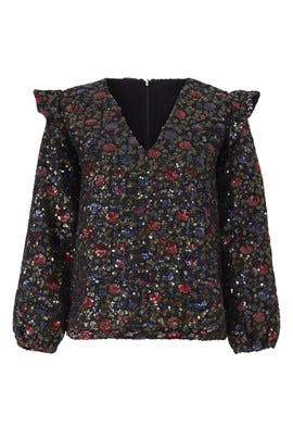 Spangled Floral Blake Top by Hunter Bell