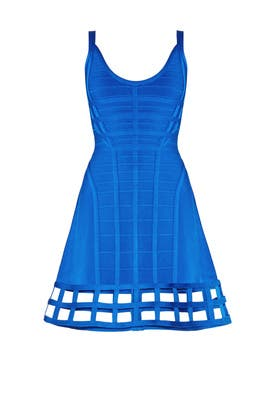 cd9d19bf6b Blue Vivien Cage Dress by Hervé Léger for $210 - $220 | Rent the Runway