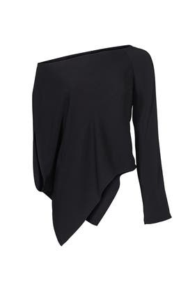 Black Single Sleeve Top by KAUFMANFRANCO