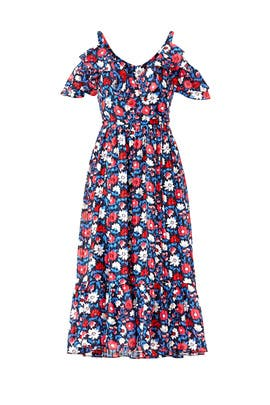 Navy Daisy Midi Dress by kate spade new york
