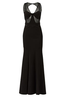 Black Lace Poise Gown by Mignon
