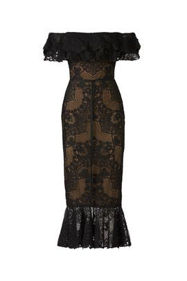 Laced Cocktail Dress by Marchesa Notte