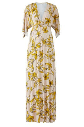 Floral Caftan Maternity Dress by Rachel Pally