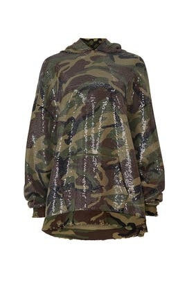 Camo Sequined Hoodie by R13