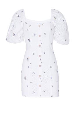 White Dina Dress by Saylor