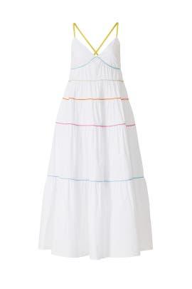 White Cleo Dress by Staud