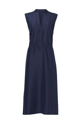 Navy Ruched Dress by VINCE.