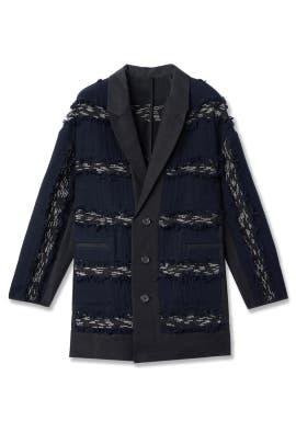 Midnight Stripe Fringe Jacket by Derek Lam 10 Crosby