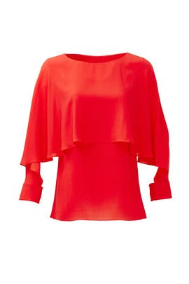 Red Miranda Tiered Top by Rachel Zoe