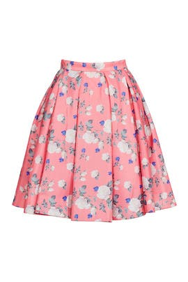 Hibiscus Floral Skirt by ERIN erin fetherston