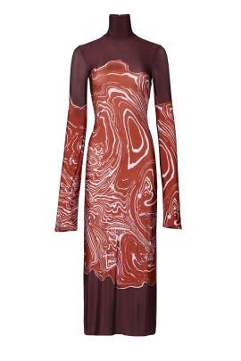 Bach High Neck Dress by ELLERY