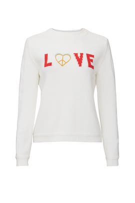 Love Intarsia Sweater by 525 America