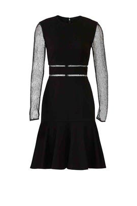 Black Mesh Panels Dress by Jason Wu Collection
