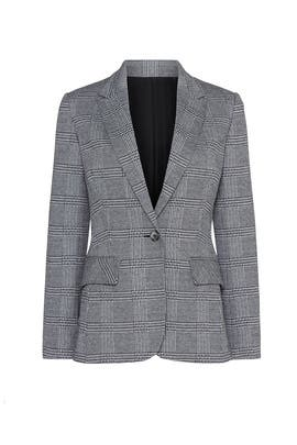 Grey Plaid Button Blazer by Jason Wu Collective