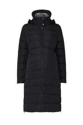 Black Anna Maternity Puffer Coat by Seraphine