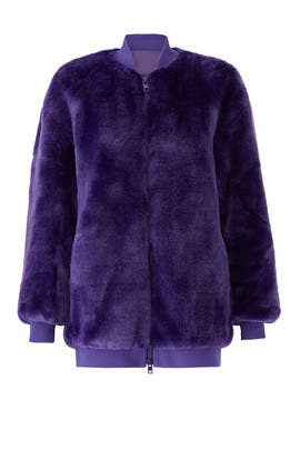 Purple Luxe Faux Fur Jacket by Tibi