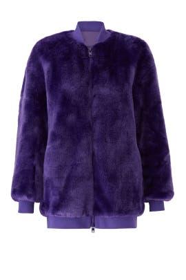 Purple Luxe Faux Fur Jacket by Tibi