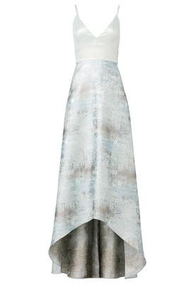 6114035000 Floral Grommet Maxi by Badgley Mischka for  165 -  188