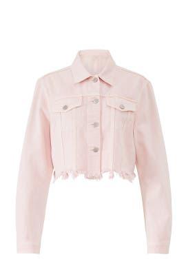 Pink Cropped Cyra Denim Jacket by J BRAND