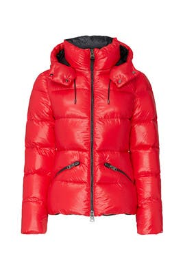 Red Madalyn Puffer Coat by Mackage