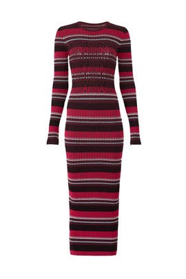 Rib Stripe Knit Dress by Opening Ceremony