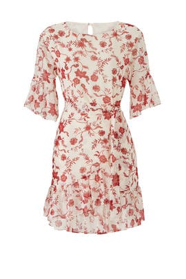 Cream Multi Wendy Dress by Rebecca Minkoff