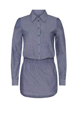 Chambray Shirt Collar Romper by Thakoon Collective