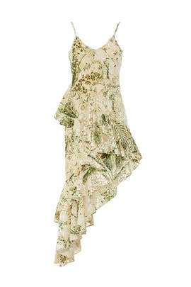 Emerald Multi Floral Dress by Hemant & Nandita