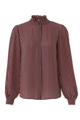 Striped Kaleda Shirt by Just Female