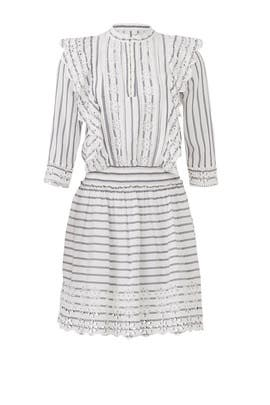 Stripe Broderie Anglaise Dress by Scotch & Soda
