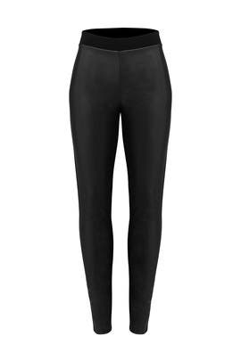 Black Faux Leather Leggings by Slate & Willow