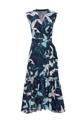Bloom Print Wrap Dress by Tory Burch