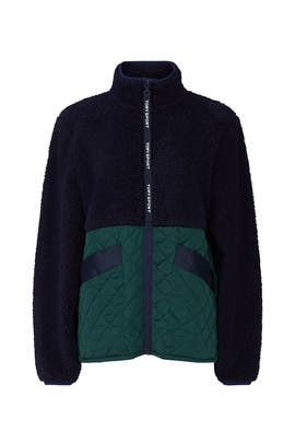 Sherpa Fleece Quilted Jacket by Tory Sport