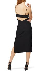 Black Paradise Midi Dress by FINDERS KEEPERS
