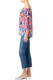 Watercolor Floral Top by Fuzzi