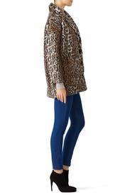Leopard Faux Fur Coat by The Kooples
