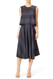 Alternastripe Dress by Tibi