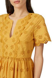 Scalloped Eyelet Midi Dress by Madewell