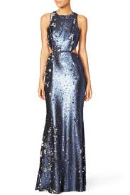 Navy Stanfield Gown by Jay Godfrey