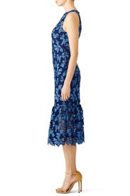 Blue Floral Bell Dress by Shoshanna