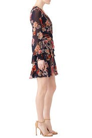 Floral Pintuck Mini Dress by Nicholas