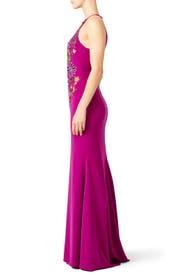 Pink Flower Power Gown by Badgley Mischka