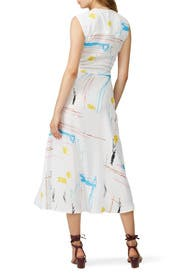 Fantasy Print Dress by Cedric Charlier