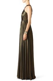 Bronze Flow Gown by Halston Heritage