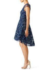 Navy Illusion Dress by Marchesa Notte