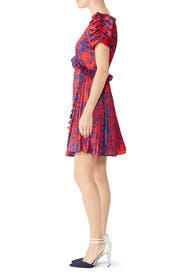 Red Floral Mini Dress by Self-portrait