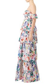 Floral Venezia Gown by Amanda Uprichard