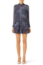 Midnight Paisley Shirtdress by Derek Lam 10 Crosby