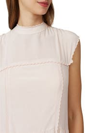 Pink High Neck Dress by See by Chloe
